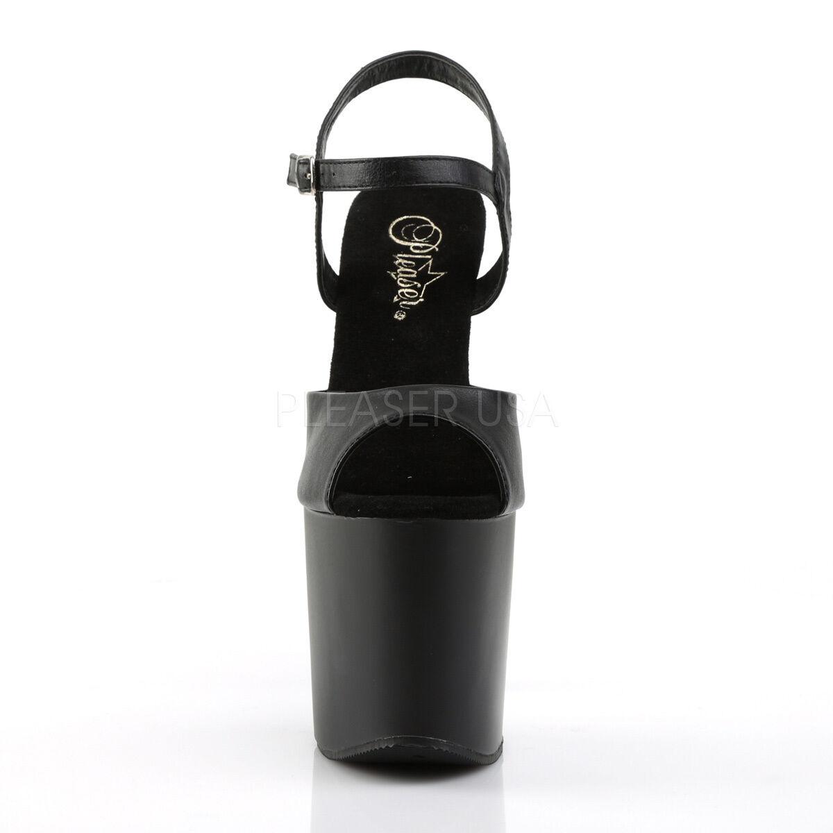 PLEASER TAB709 BPU M Sexy Platform Black Faux Leather 7.5 7.5 7.5  Stripper Heels shoes c4e816