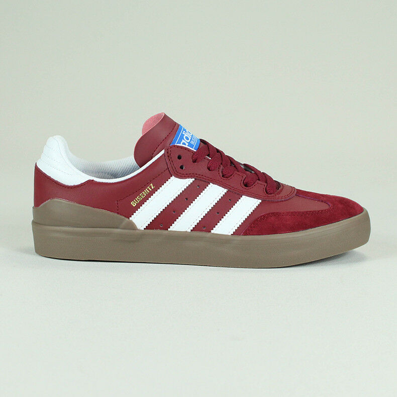 Adidas Busenitz Vulc RX Skate Trainers Shoes Red/Gum UK Size 7,8,9,10,11