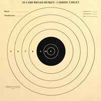 (12)m-50 Official 50 Yard Rifled Musket - Carbine Target [14 X 14] On Tagboard