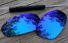 Polarized Sky Blue Mirrored Custom Sunglass Lenses for Oakley Juliet-Yellow Tint