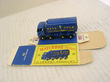 MATCHBOX MOKO LESNEY 10C SUGAR CONTAINER TRUCK BPW-R/A WITH ORIGINAL BOX