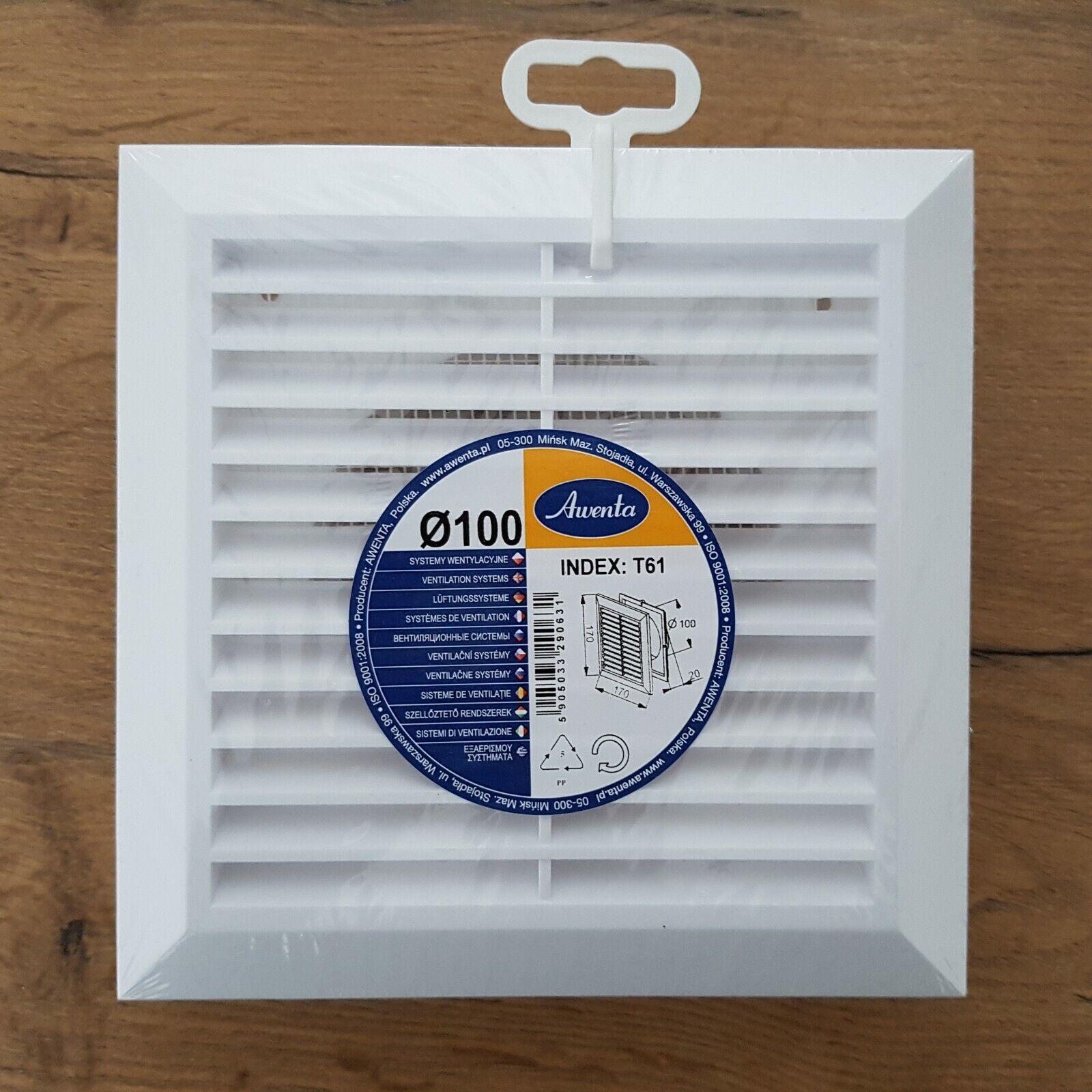 Abschlussgitter mit Insektenschutz Ø 100 125 150 mm Lüftungsgitter T6x