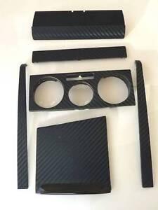 vw golf mk4 black 3d carbon fibre effect centre dash skin. Black Bedroom Furniture Sets. Home Design Ideas