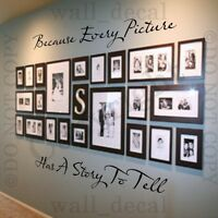Because Every Picture Has A Story To Tell Wall Decal Vinyl Decor Words Sticker
