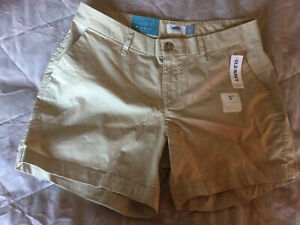 Old-Navy-Beige-Shorts-Size-4-14-With-Stretch-New
