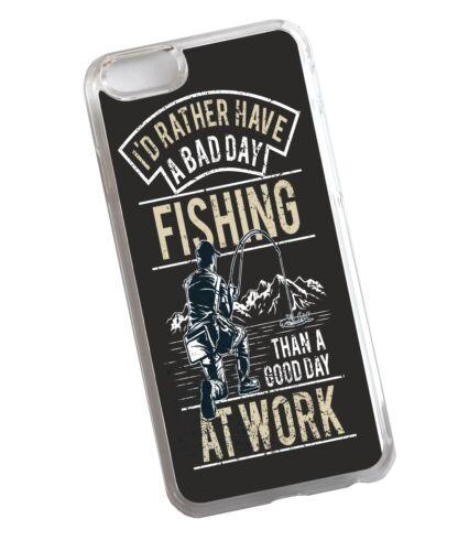 Funny prefiere tener una mala I Día De Pesca Pesca transparente Funda cubierta para iPhone 7