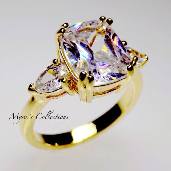 NEW 5 CT 18K GOLD EP BRIDAL WEDDING ENGAGEMENT RING BAND WOMENS SIZE 8