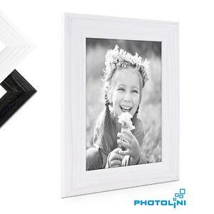 bilderrahmen modern maserung holz schwarz wei foto rahmen bild massiv farbwahl ebay. Black Bedroom Furniture Sets. Home Design Ideas