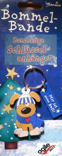 Schlüsselanhänger mit Hund und Spruch Bommelige Schlüsselanhänger Bommelbande