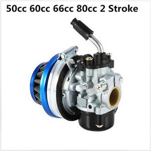 Racing Carburetor Filter Carb 2Stroke Gas Motorized Bike For 50cc 60cc 66cc 80cc