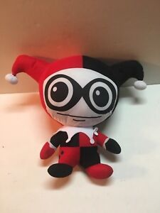 Six Flags Joker Harley Quinn Plush Stuffed Doll Toy Red Black White