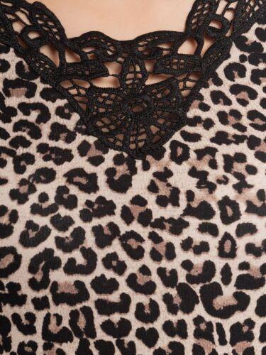 Auschnitt Sauvage Motif Robe Maria Nuit Léopard Crocheté Vive zwI0F6qn