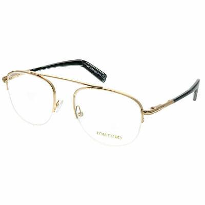 Tom Ford FT 5450 028 Rose Gold Metal Round Eyeglasses 49mm