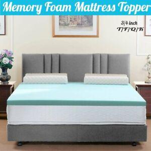 3/4 Inch Memory Foam Mattress Topper - 3 year Warranty ...