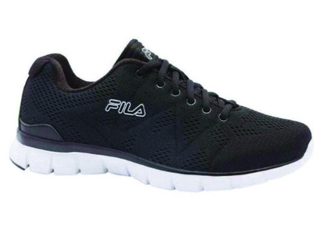 719d614a3 FILA Mens Black Memory Refractive Memory Foam Insole Running Athletic Shoes  11US