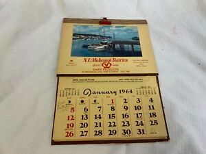 Vintage-New-London-and-Mohegan-Dairies-Conn-1964-Calendar
