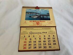 Vintage-New-London-and-Mohegan-Dairies-Conn-1964-Calendar