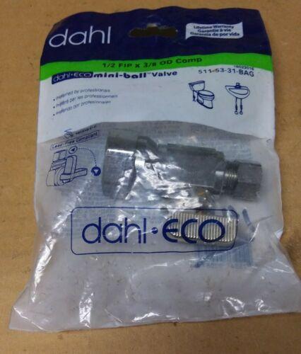 New Dahl 1//2 FIP X 3//8 OD Comp 1//4 Turn Mini-Ball Valve 511-53-31