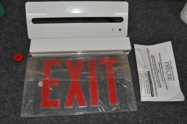 New Lithonia Precise Exit Sign Led Clear Red Lrp W 1rc 120 277 El N