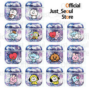 Official BTS BT21 Baby Ver Aqua Glitter Airpods Case Cover+Freebies+Tracking