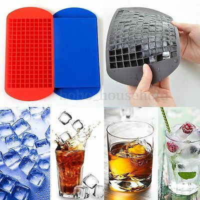 160 Ice Cube Tray Freeze Silicone Mould Bar Pudding Jelly Chocolate Maker Mold
