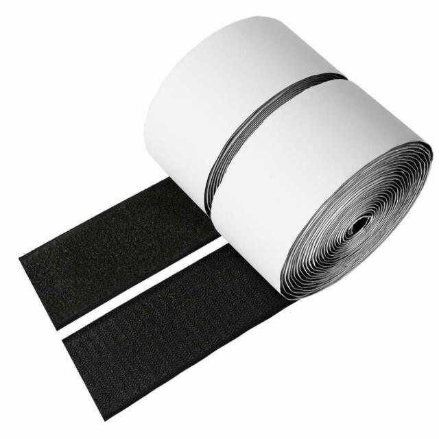 "2/"" Adhesive Backed Hook /& Loop Sticky Back Tape Fabric Fastener 15 Ft Wide"