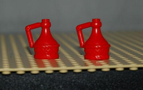 lego lot 2x carafe rouge fabuland avec poignee ref 4429 Set 3791 3676 3622