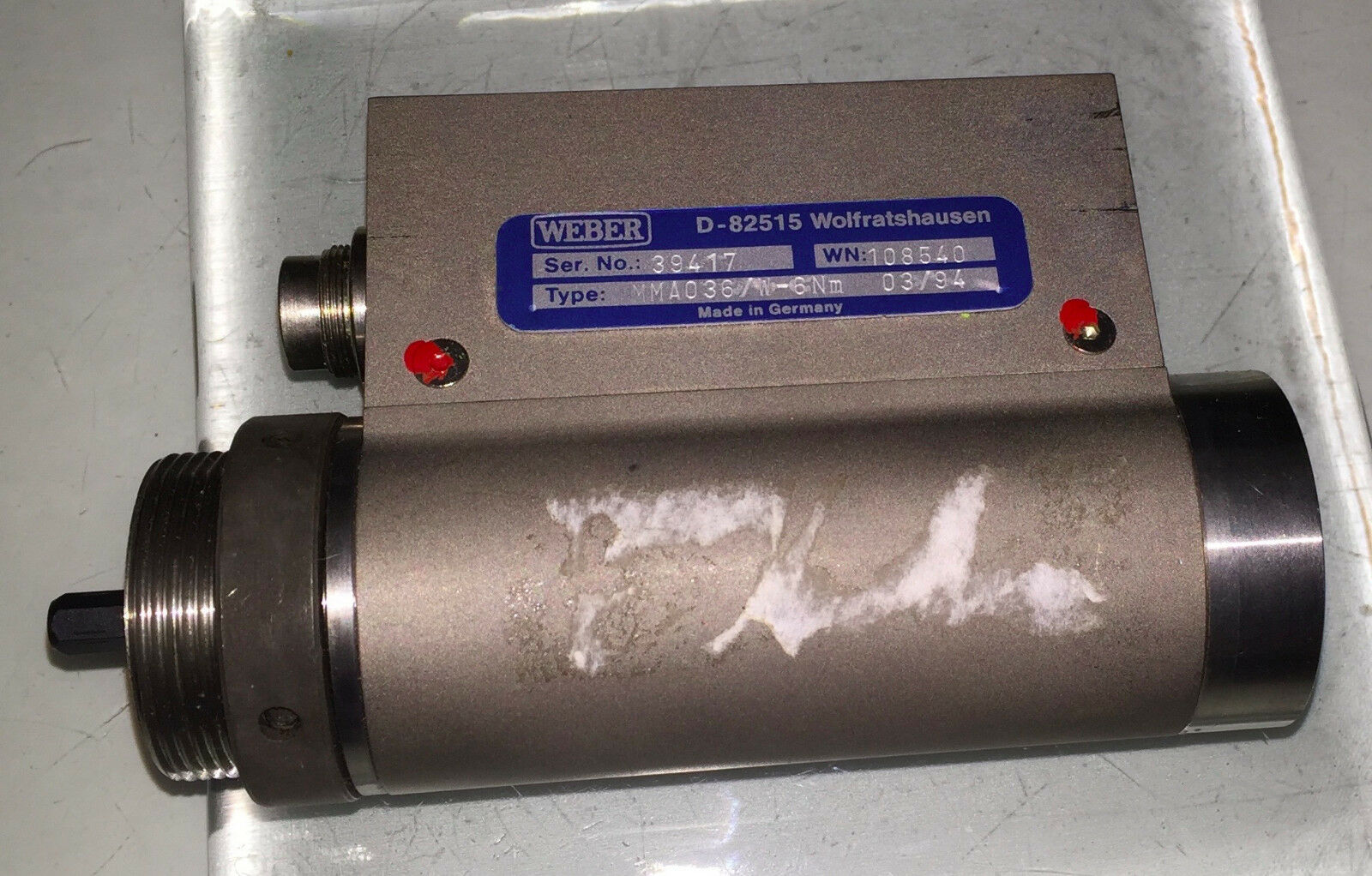 Weber - D-82515 - Type MMA036 W-6Nm - Wolfratshausen - Transducer