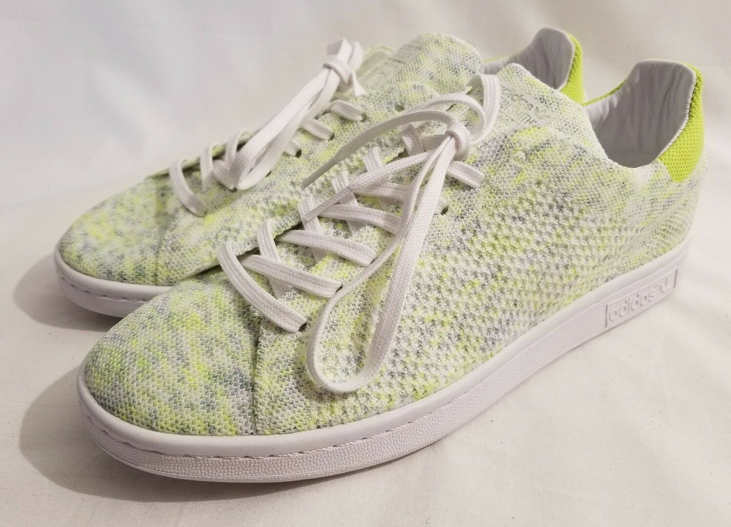 Adidas Originals Stan Smith PrimeKnit White Electricity Rare Size 9.5 BA739 New