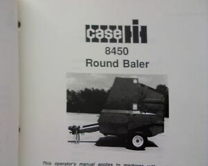 Details about Case IH 8450 Round Hay Baler Owners Operators manual service  book