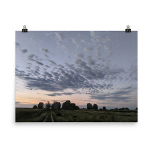 Photography Poster print purple clouds printed on matte paper