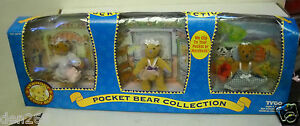 #120 NIB TYCO Vermont Teddy Bear Pocket Collection Set