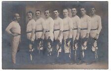 Turner Sieger Mannschaft sport club male friends  Foto RPPC 1915 Gay Int