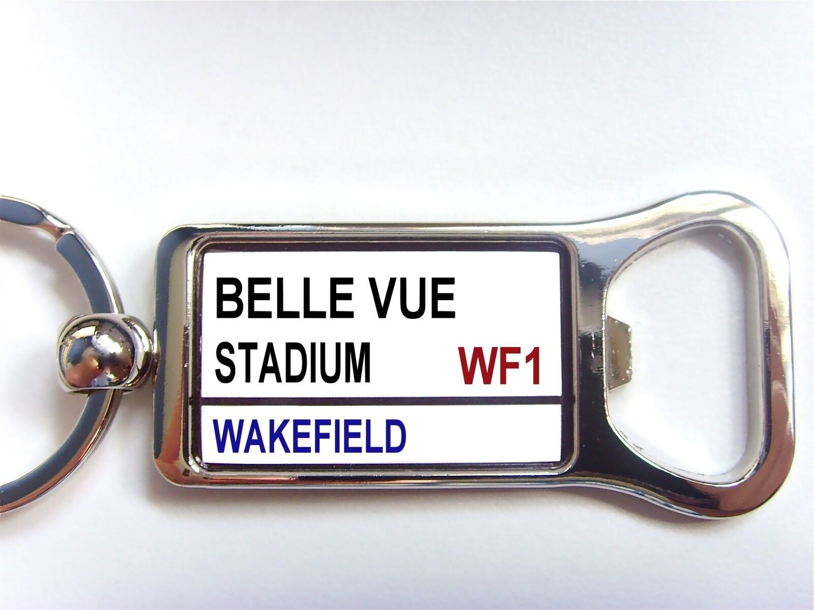 Wakefield Wildcats stade badge Street Signe Signe Street ouvre-bouteille Porte-clés Cadeau d7b8f4