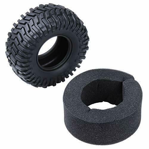 """2.2/"""" Tires with Foam Inserts Beadlock Wheel Rims Tyres for 1//10 RC Rock"""