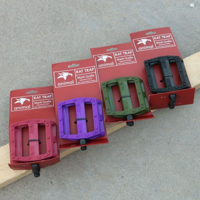 "Animal RAT TRAP BMX Pedals 9//16/"" Mark Gralla Signature Pedals"
