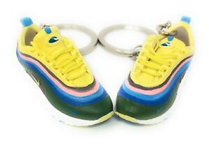 Pair Air Max OG Sneakers with Box Mini 3D Keychain Ring Shoe 1:6 Figure