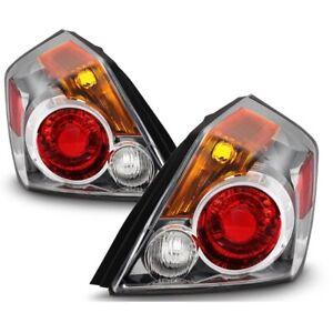 Fit Nissan 07-12 Altima 4dr Sedan Replacement Rear Tail Brake Lights Pair Set
