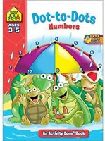 Dot-to-dot Numbers: Ages 3-5, Children Activity Books Learning Math Toddlers on sale