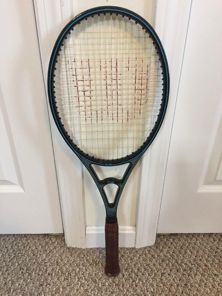 Wilson  Clásico Sting 90 Sq en tamaño mediano 100% Grafito Raqueta De Tenis Agarre Talla 4 1 2  echa un vistazo a los más baratos