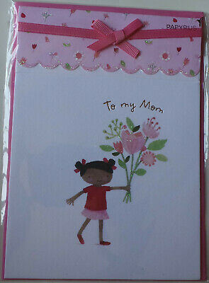 Mother/'s Day greeting card Mom Flowers Daughter Papyrus New in Packaging