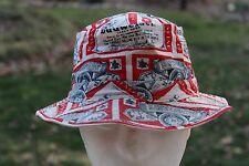 Vintage Budweiser Gilligans Style Bucket Hat Cap  (Size 7 1/8)  Fishing Hat 80s