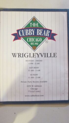 THE CUBBY BEAR-BAR AT WRIGLEYVILLE,ILLINOIS- CHICAGO CUBS GREATEST FAN HANGOUT