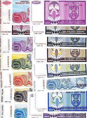 Banknote Note P R1 RSK Krajina KNIN UNC - 10 DINARA 1992 CROATIA