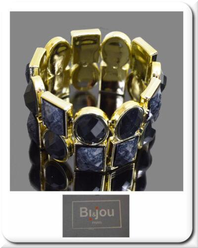 Armband Armreif Armspange  Armkette Manchette Farbe Gold Schwarz  BI/&JOU Paris