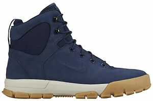 153676e60eba NIKE AIR NEVIST 6 ACG MEN s LEATHER BOOTS OBSIDIAN - BIRCH - BROWN ...