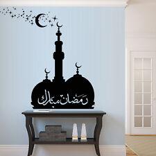 Wall Decal Arab Persian Islam Skyline Ramadan Kareem Mosque Palace Moon M1330