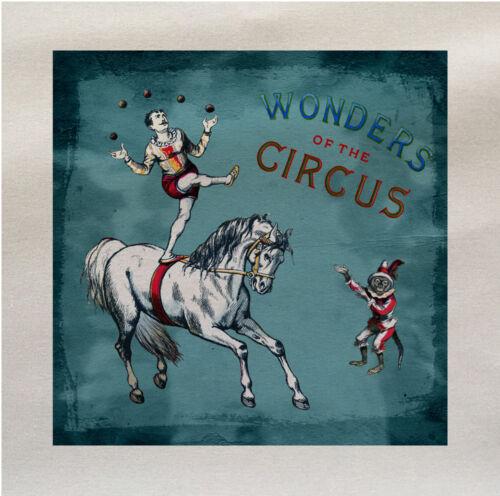 Caballo de circo acróbatas panel de tela de algodón hacer un Cojín De Tapicería Craft
