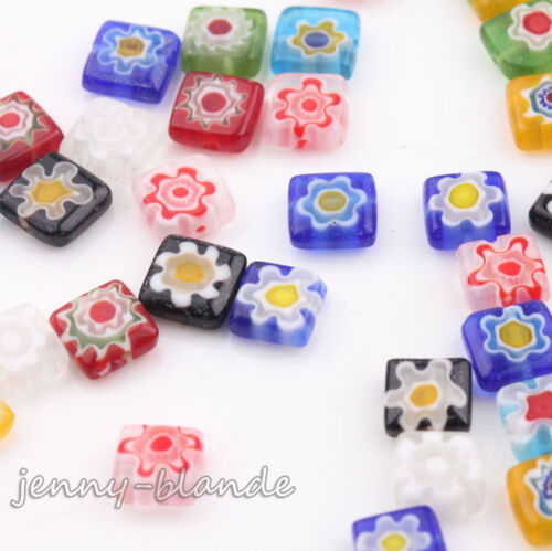 Wholesale 20//50 Mixed Millefiori Glass Loose Spacer Beads Charm Finding 4-13mm
