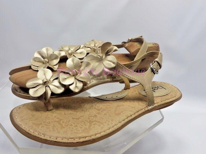 Bolo Women  Metallic Gold Size Strap Thong Sandals  Size Gold 8 M EXUC 3abbbb